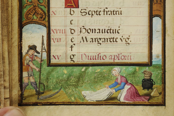 Laundress from the Bruges Book of Hours, 16th century