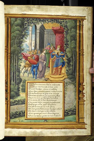 Poème Sur La Passion Ms M147 Fol 14r Images From