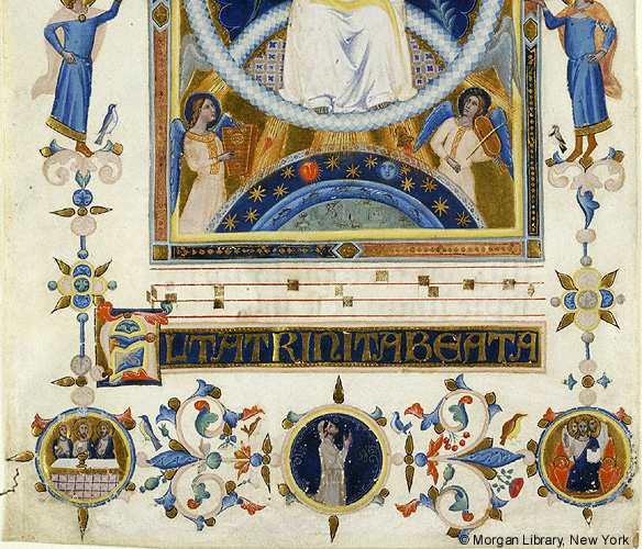 Leaf from the Laudario of the Compagnia di Sant'Agnese, MS M 742r