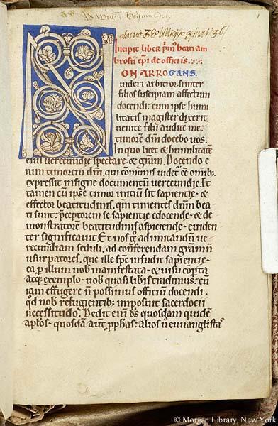 De Officiis Ms G 65 Medieval And Renaissance